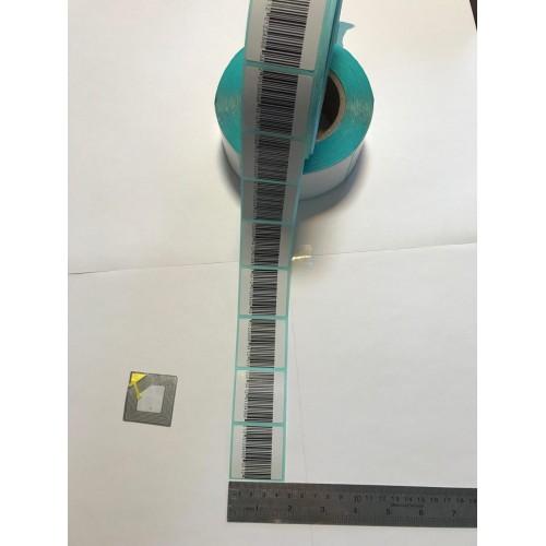 لیبل دزدگیر RF سایز 4*4 و لیبل پشت آبی
